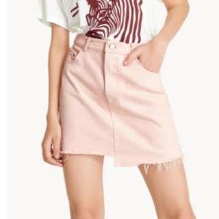 BNWT POMELO pink denim skirt