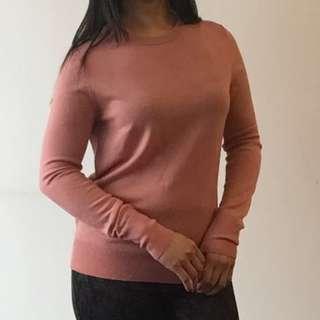 ⚡️Uniqlo pink knit sweater S