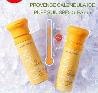 SUNSCREEN PROVENCE CALENDULA ICE PUFF SUN SPF 50+ PA+++