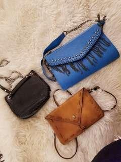 Vintage leather purses