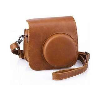 CAIUL Comprehensive Protection Instax Mini 70 Camera Case Bag With Soft PU Leather Material (Brown)