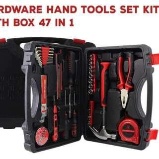 Free shipping#47 Pcs Hardware Tools Set Alloy Steel Repairing Tools Kit with Case