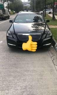 Mercedes E class for rent
