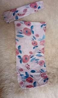 Bedong instan bayi set bandana