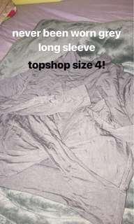 Topshop grey long sleeve