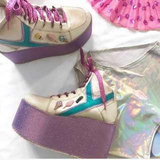 YRU Platform Sneakers Size 7