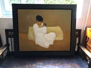 Original art Mother and child