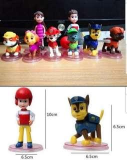 Paw Patrol cake toppers/ Figurine/toy/Display/miniature