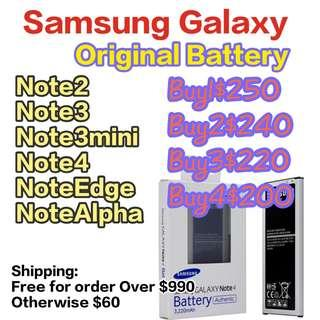🚚 Samsung Galaxy Note 234 Note edge Notealpha Battery