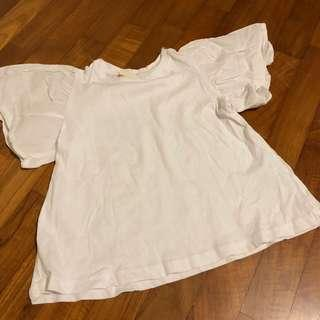 4T NEW Zara White Puff sleeve tee