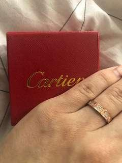 Rose gold Cartier ring/ rep