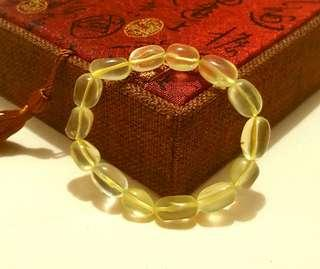 Natural Lemon Citrine Bracelet (no artificial color)