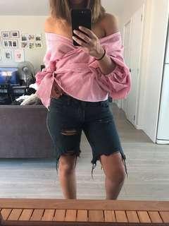 Denim shorts mid