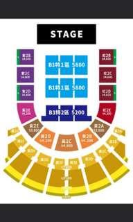 JJ林俊傑2/16聖所巡迴演唱會台北站 紅2E區連號