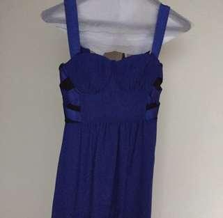 Blue midi sress