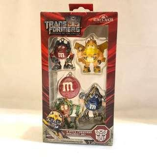 Transformers x M&M Christmas Mini Ornament Set 罕見