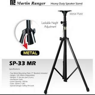 ㊗️Martin Ranger SP-33 Heavy Duty Metar Speaker Stand a Pair
