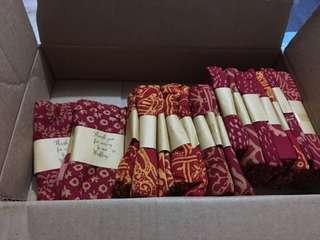 Red Batik Scarf x 18 PC (Door Gift)