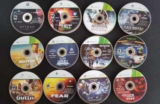 Original Xbox 360 games (No box)