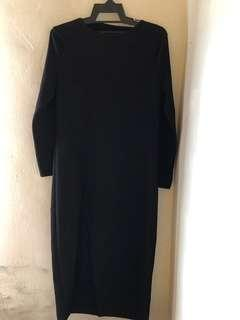 Black Split Long Top