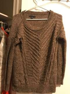American Eagle Knit Brown Sweater (Size XS)