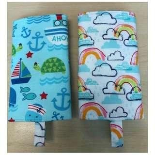 handmade Reversible drool pad dolphin and rainbow, suitable for manduca ergo tula lillebaby etc baby carrier accessories