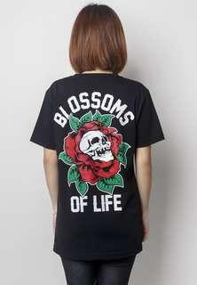 Graphite Blossoms Of Life Tee Shirt