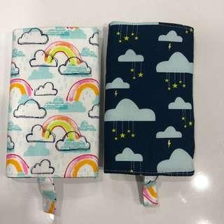 handmade with love by juliemart Reversible Drool Pads rainbow and raining stars suits tula boba lillebaby ergo etc toddler baby carrier protector