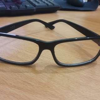 New Kacamata Bening Fashion Import Frame Hitam Polos Keren