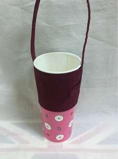 🚚 手作-素色環保杯套 飲料提袋 好收納/可插習慣