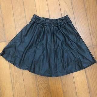 🚚 黑色皮裙短裙XS