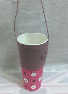 🚚 手做-素色環保提袋 杯套 飲料提袋 好收納/可插吸管/可客製