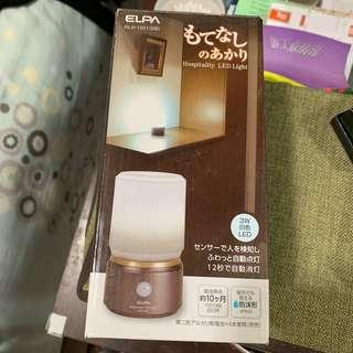 ELPA 朝日 Hospitality LED Night Light 白光防水乾電感應夜燈 IPX4