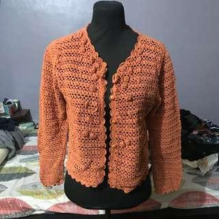Knitted Orange Outerwear