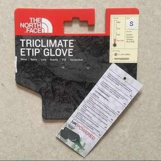 Authentic UNISEX The NORTH FACE Triclimate® Etip™ Gloves (size S) Black