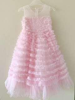BloomB Pink Party Tutu Dress for Girls Size 6 [5-7 years old]