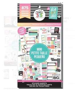 MAMBI Happy Planner Sticker Value Pack - Productivity - for Mini Planner