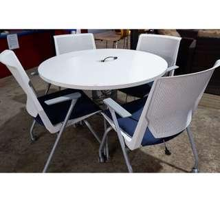 Office Round  table with 4 chairs