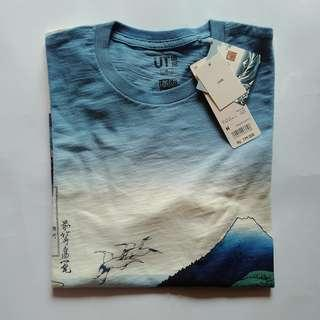 T-Shirt uniqlo hokusai blue