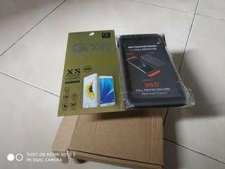 Case 360 protect +Tepered glass Full Cover