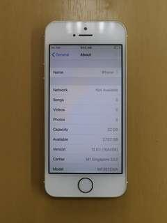 Only $155 IPhone 5s 32gb Gold Preown