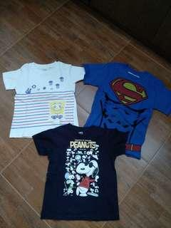 3 for $10 u Uniqlo Boys Tee Snoopy superman Sponge Bob