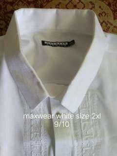 polo barong short sleeves size large-2xl