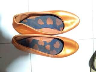 Flat shoes orange rubi