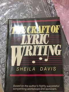 Songwriting/Lyrics writing Book