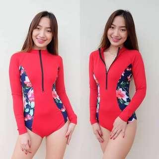 One piece long sleeved rashguard