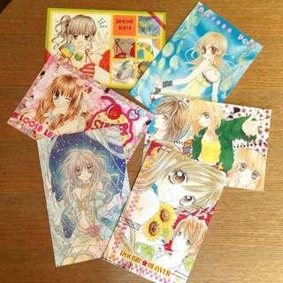 🚚 日本RIBON原版少女漫畫月刊附錄明信片組#一百均價