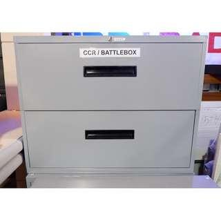 Lateral Cabinet 2 Drawers with key