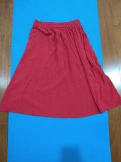 🚚 #買一送一 紅色長裙