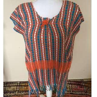 70s poncho woven for festivals